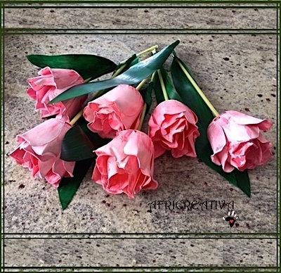 Tulipani e lilium finti