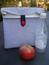 Porta pranzo a sacchetto in cotone.