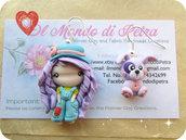 Orecchini Doll Campagnola e Cucciolo in Fimo Kawaii