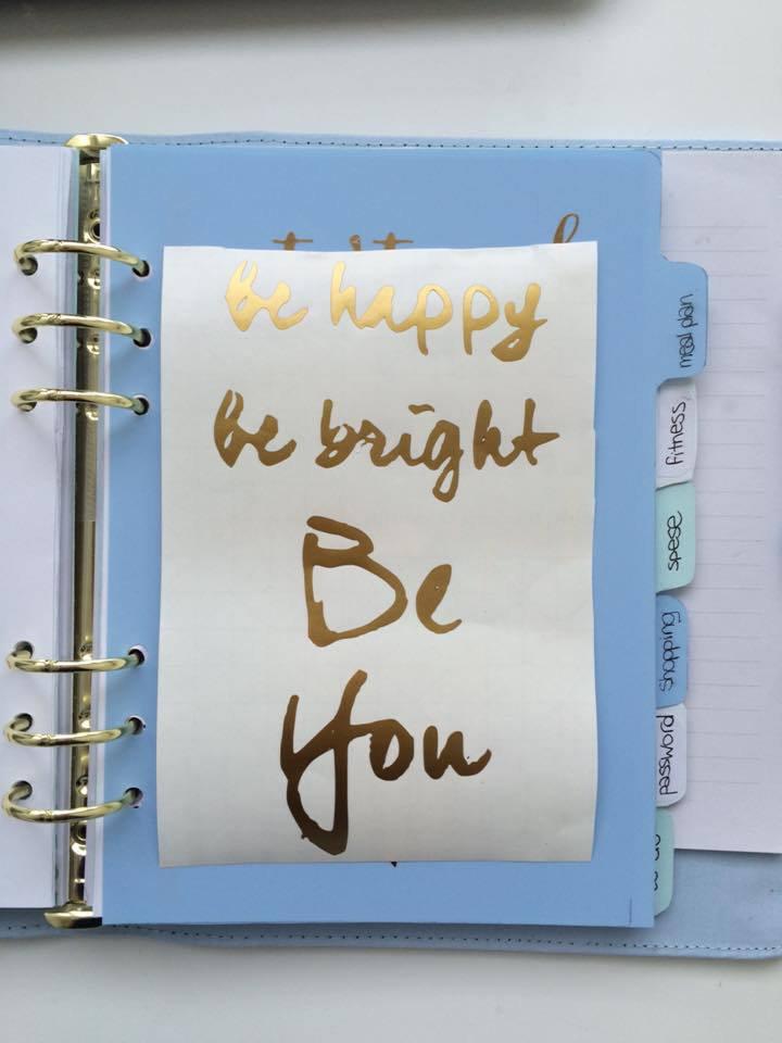 Scritta in vinile - A5 be bright