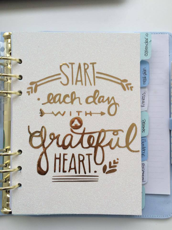 Scritta in vinile - A5 start each day