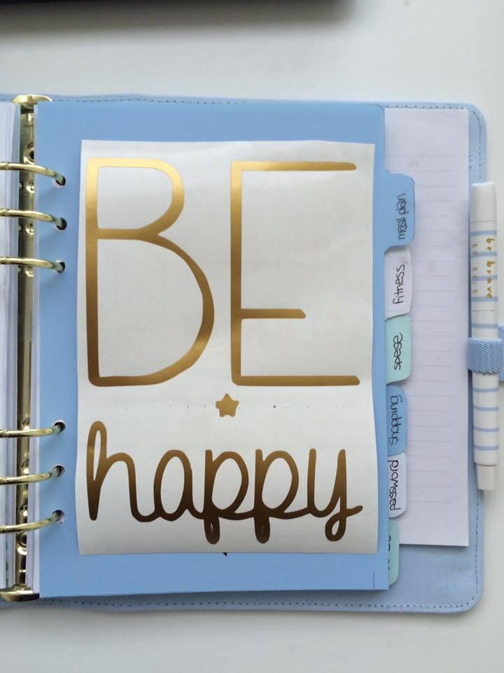 Scritta in vinile - A5 be happy