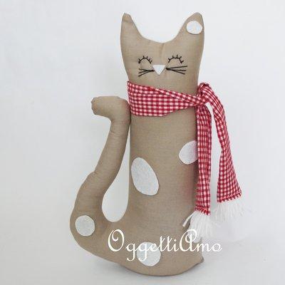 Gattino beige maculato: un fermaporta come idea regalo per i vostri cari!