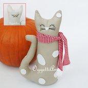 Gatti in stoffa come fermaporta: due facce per lo stesso gattino!