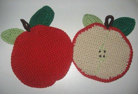 Presina a uncinetto a forma di mela
