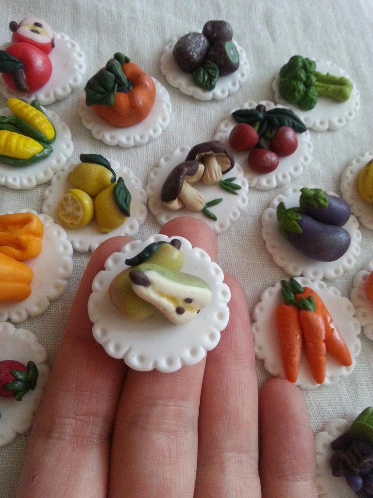 Per Sabrina- calamite frutta verdura fimo