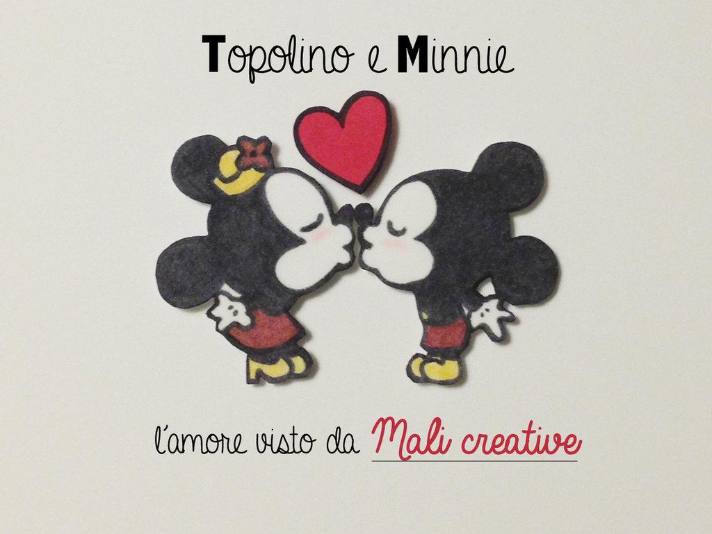 3 Calamite Topolino e Minnie innamorati in gomma crepla