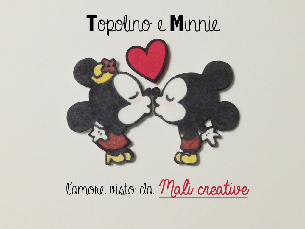 Pin Minnie E Topolino Innamorati On Pinterest