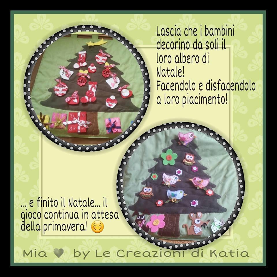 Pannello Albero di Natale imbottito