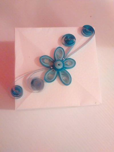 Scatola origami-quilling fiore