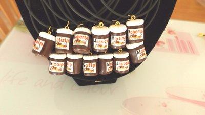 INSERZIONE RISERVATA PER EMANUELA - 35 collane con barattolo nutella personalizzato - fimo