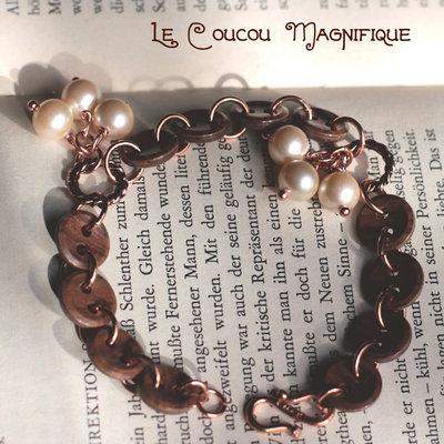 Bracciale con perle vintage e bottoni - B.16.2015