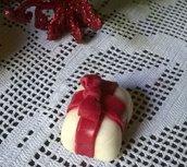 Segnaposto natalizio in pasta di mais