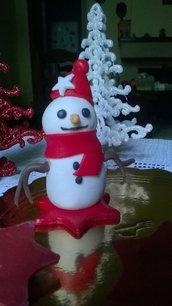 Pupazzo di neve in pasta di zucchero