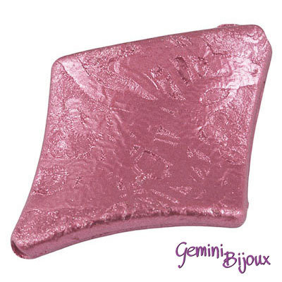 Perla rombo acrilico 39x30x6 rosa