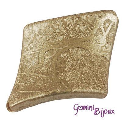 Perla rombo acrilico 39x30x6 bronzo