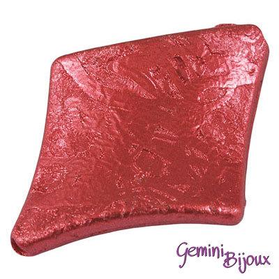 Perla rombo acrilico 39x30x6 rosso