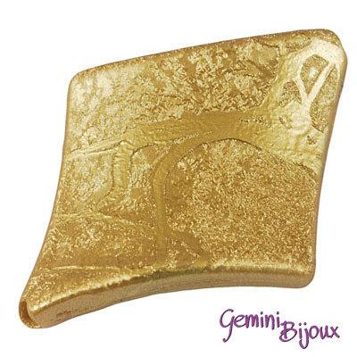 Perla rombo acrilico 39x30x6 golden