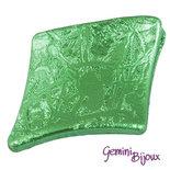 Perla rombo acrilico 39x30x6 verde