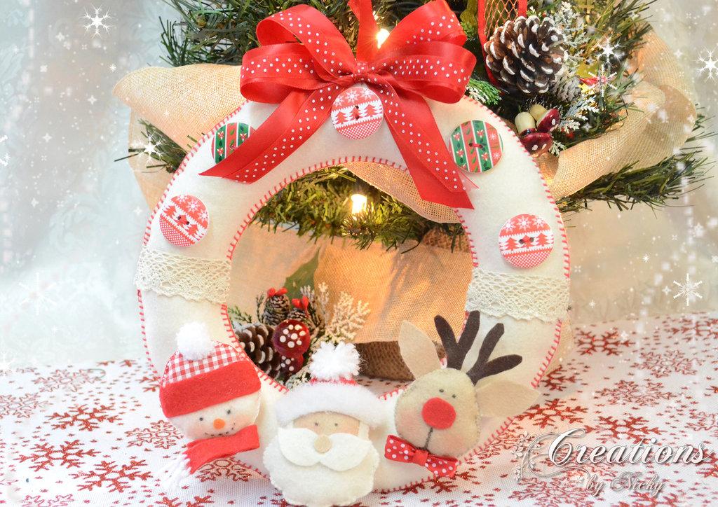 Ghirlanda di Natale fatta  a mano