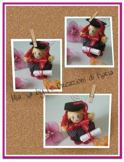 Bomboniera laurea - bambolina