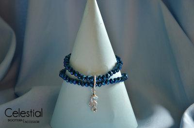 Bracciale cristalli cinesi - Blu