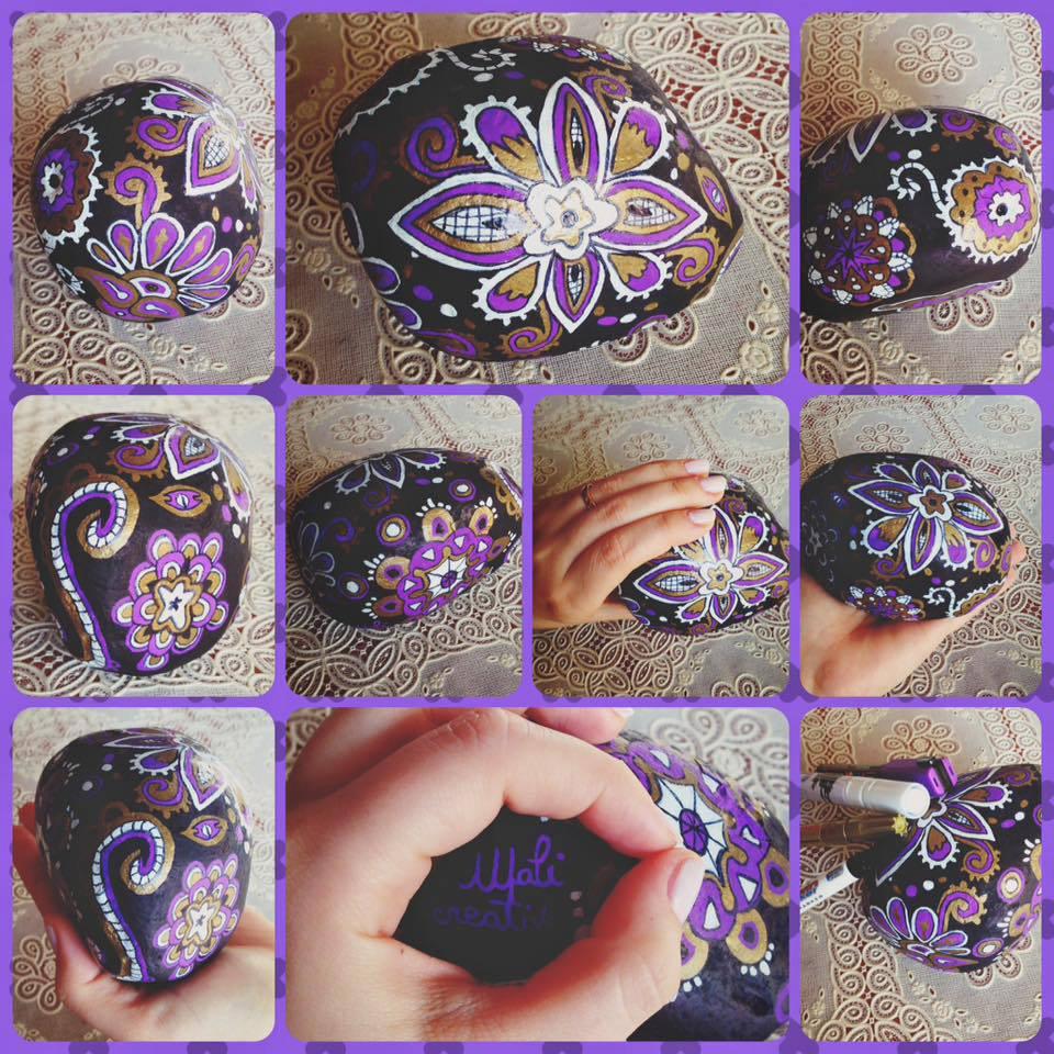 Fermacarte o Fermaporta decorato a mano
