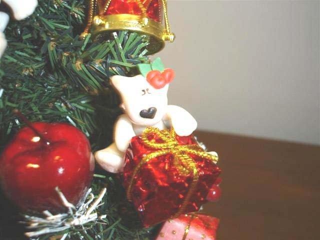 NOVITA - JUST XMAS - Ciondolo BULL TERRIER natalizio da appendere - idea regalo - fimo