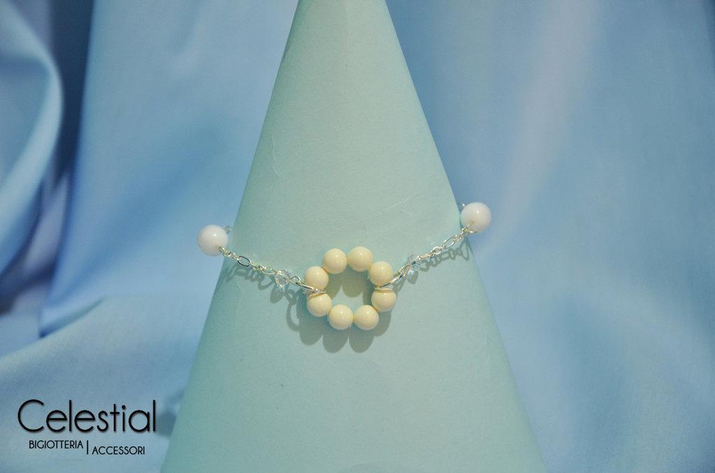 Bracciale cerchio di perle - Ivory