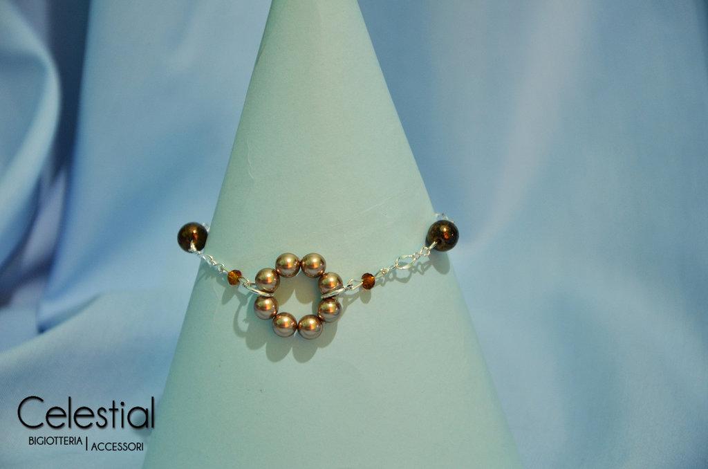 Bracciale cerchio di perle - Bronze