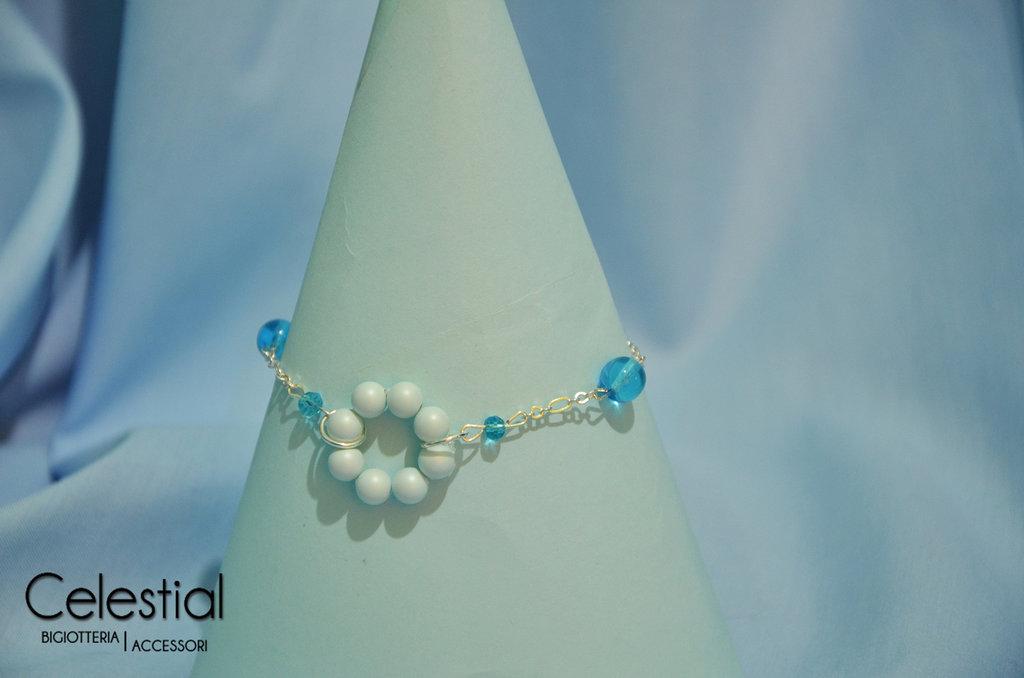 Bracciale cerchio di perle - Pastel Blue