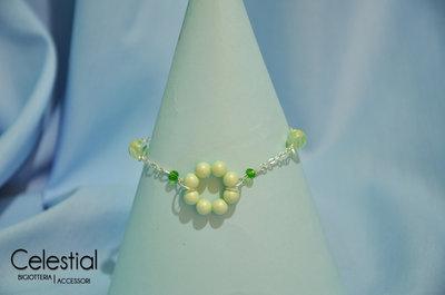 Bracciale cerchio di perle - Pastel green