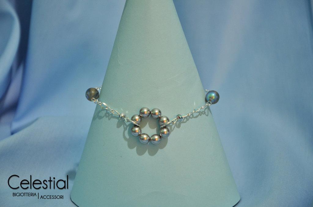 Bracciale cerchio di perle - Light Grey