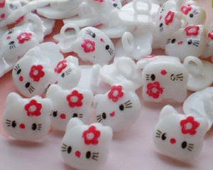 Bottoncini Hello kitty