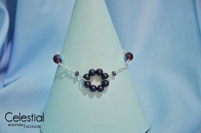 Bracciale cerchio di perle - Purple
