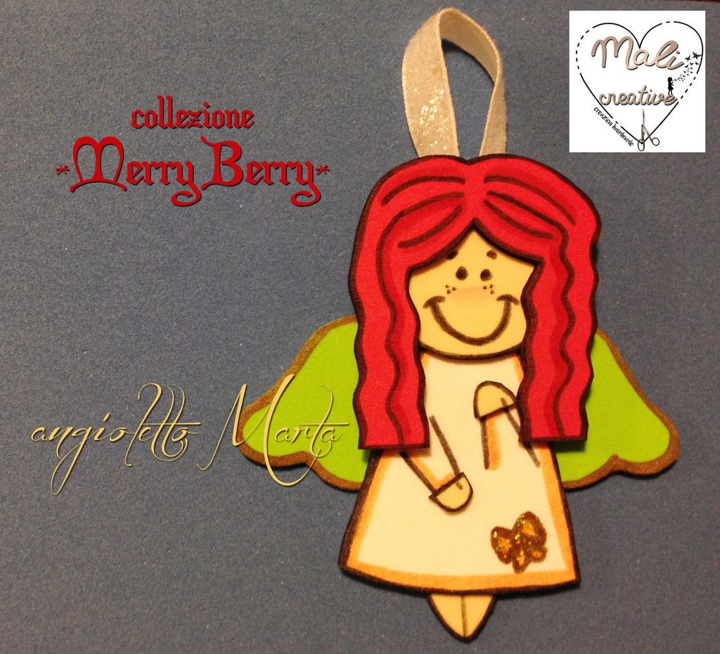 """Collezione """"Merry Berry"""" Natale - Angioletto *Marta*"""