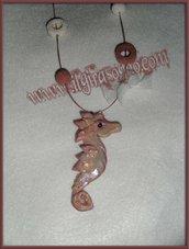 COLLANA /NECKLACE seahorse cavalluccio marino