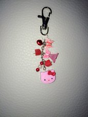 Portachiavi Hello Kitty Rosa con Charms