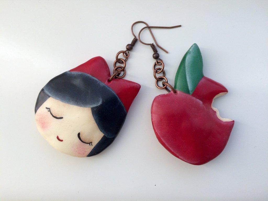 Orecchini C'era una volta ... Biancaneve e mela