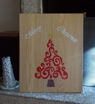Pannello decorativo in legno - Merry Christmas