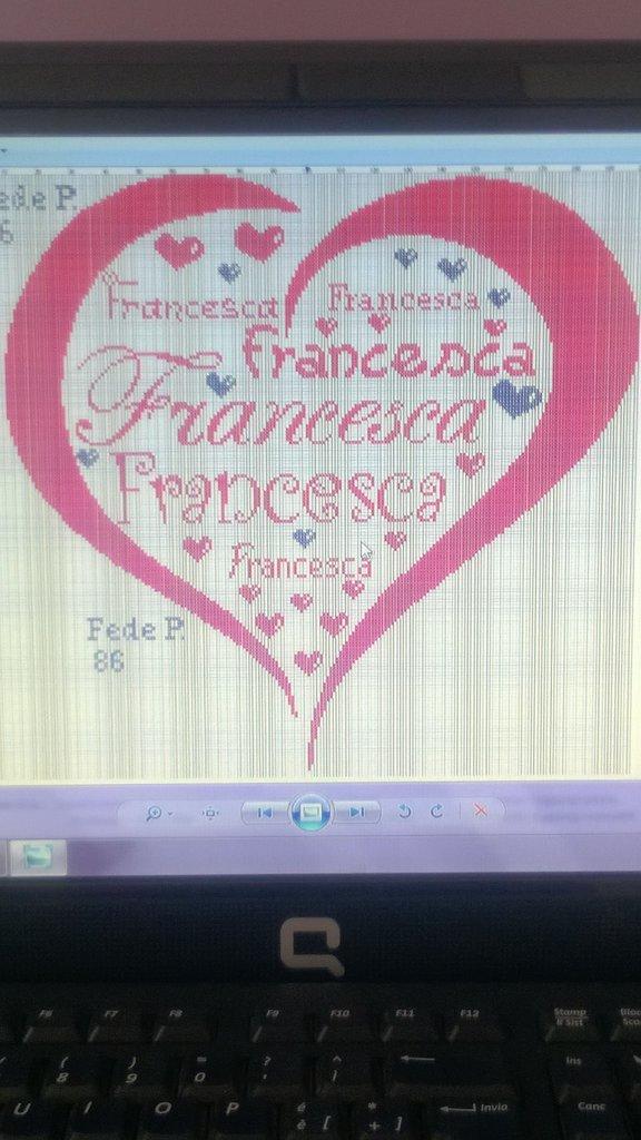 Schema personalizzato cuore con nomi