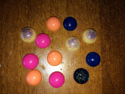 Lotto 20 mezze perle in resina
