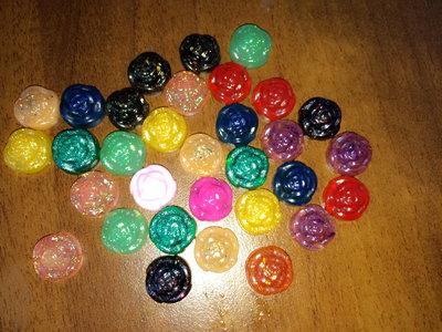 Lotto 20 roselline in resina