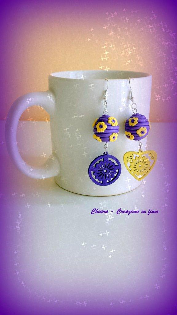 Orecchini in fimo handmade eleganti originali Idee regalo donna