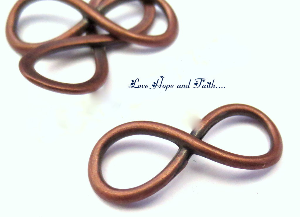 "1 Connettore ""Infinito"" color rame (25x10mm) (cod.23884)"