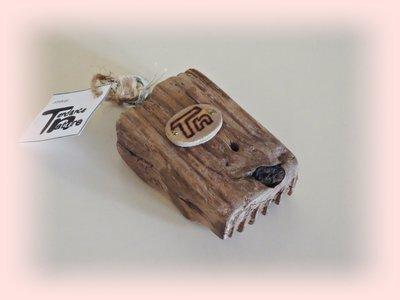 Portachiavi con legno di mare