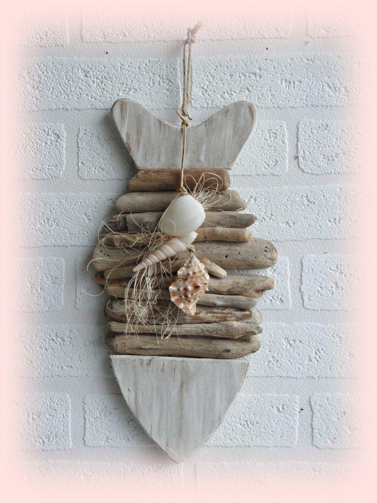 Pesce decorativo con legni di mare per la casa e per te for Legni di mare arredamento