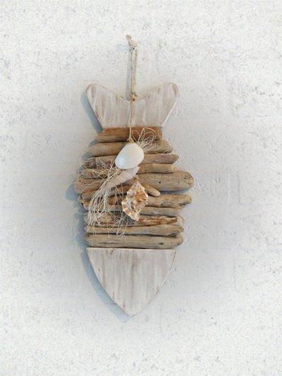 PESCE decorativo con legni di mare - Per la casa e per te - Decorar...  su M...