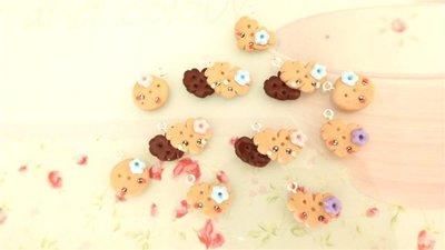 Novita FIMO - - LOTTO OFFERTA STOCK 1o BISCOTTINI KAWAII MISTI con fiorellini     per collane orecchini bracciali