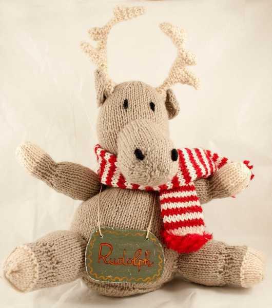 Rudolph - La renna di Babbo Natale realizzata da me in lana